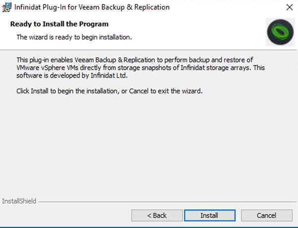 Veeam Universal Storage API – Adding the Infinidat plug-in | vZilla