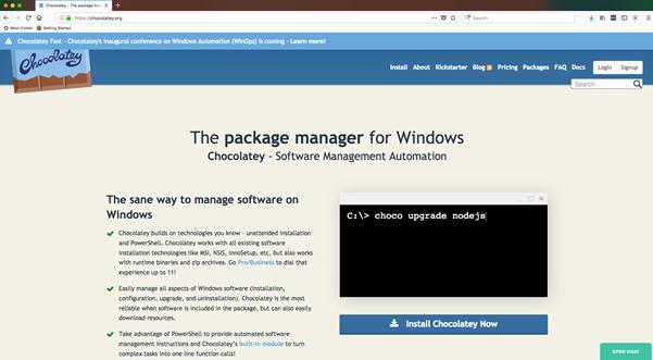 Windows Operations, Introducing Chocolatey for Windows