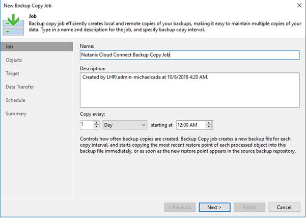Veeam Availability for Nutanix AHV – Extended Backup